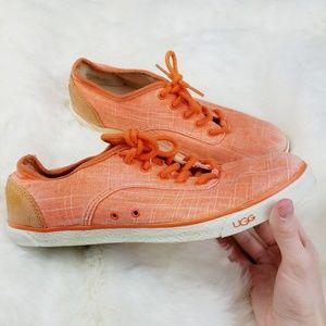 Ugg Australia|Evara Canvas Low Top Sneakers Orange